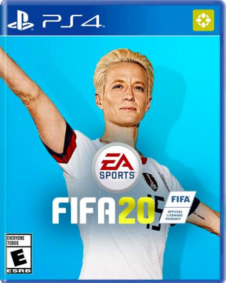 Megan Rapinoe na obalu hry FIFA 20