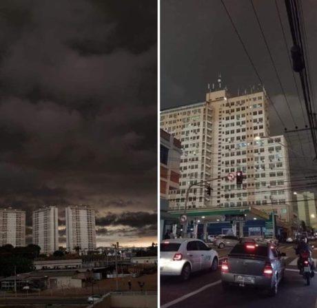 Kouř z divokých požárů zatměl oblohu v největším brazilském městě, Sao Paulo