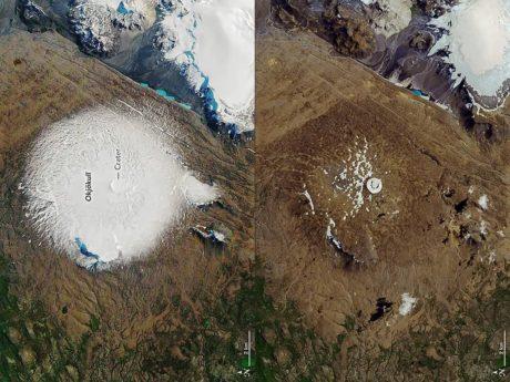 Zánik ledovce Okjokull