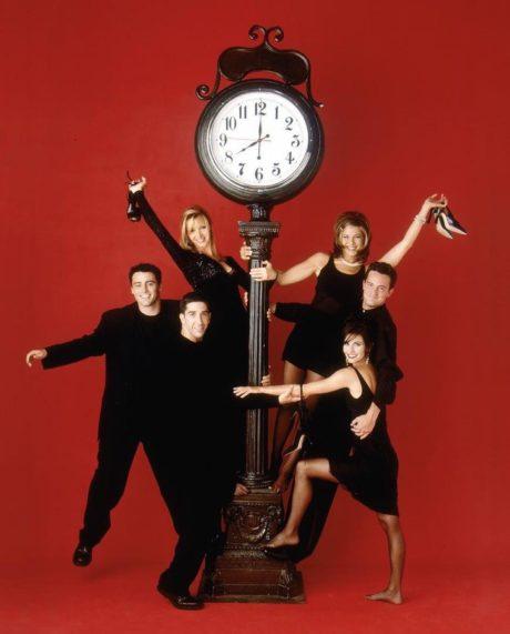 Jennifer Aniston (vpravo nahoře) ztvárnila Rachel ve známém seriálu Přátelé