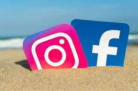 Loga Facebooku a Instagramu