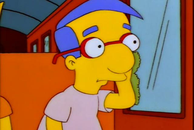 Prostřední jméno Bartova kamaráda Milhouse Van Houtena je Mussolini