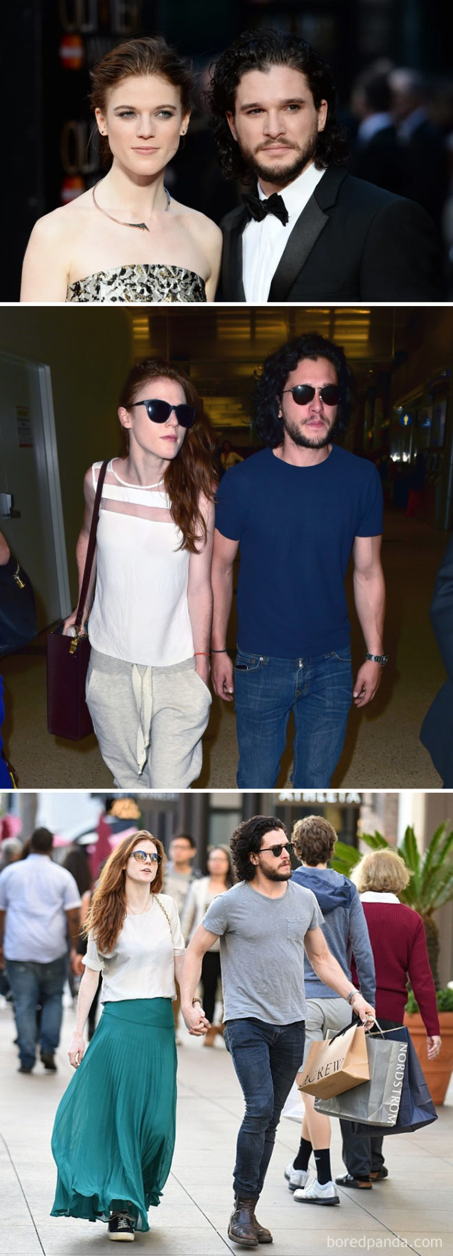 Rose Leslie (Ygritte) a Kit Harington (Jon Snow)