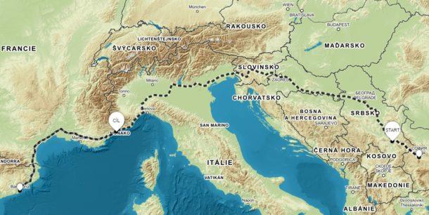 Cesta z Niš do Nice