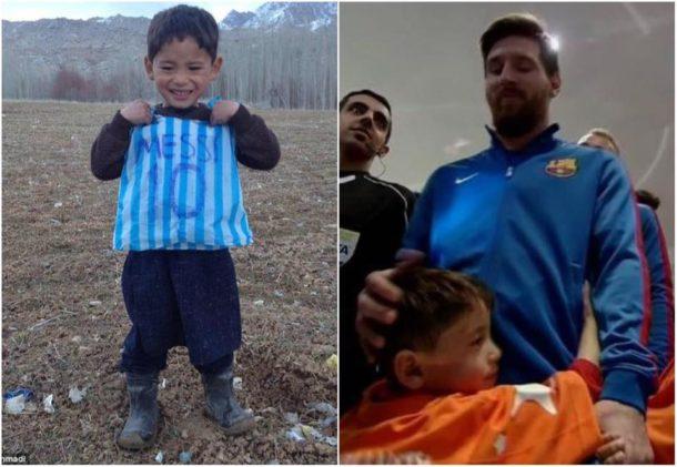 Lionel Messi a jeho fanoušek
