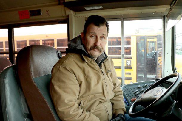 Řidič školního autobusu