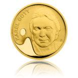 Přední strana zlaté půluncové mince