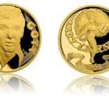 Rub a líc zlaté půluncové medaile