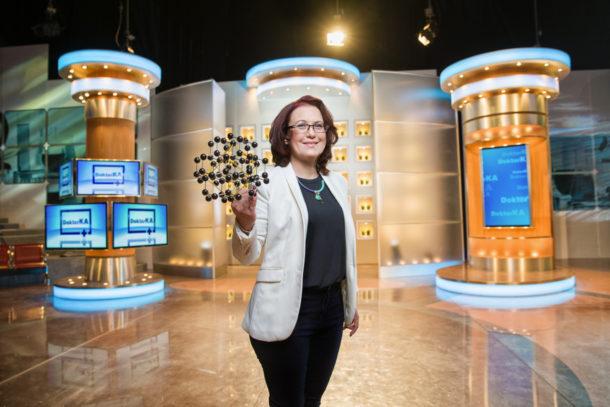Kateřina Cajthamlová během natáčení dalších dílů televizní show DoktorKA.