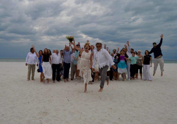 Pavel Zedníček se oženil s Hankou Kousalovou na Floridě.