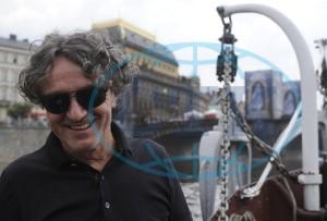 Goran před koncertem na vltavském parníku. Foto: ČTK
