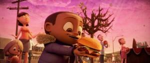 Zataženo, spadl hamburger