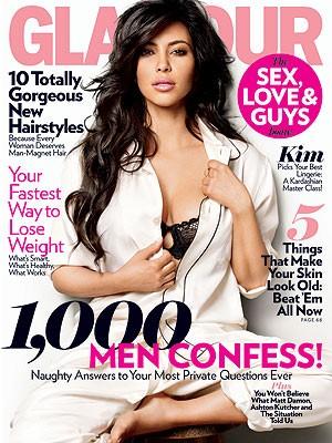 Kim na obálce Glamour