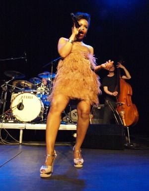 Tonya Graves na koncertě v Akropoli