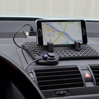 držák telefonu s podložkou a nabíjecím kabelem