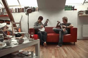 Tomáš Klus a Jiří Kučerovský v domácím studiu