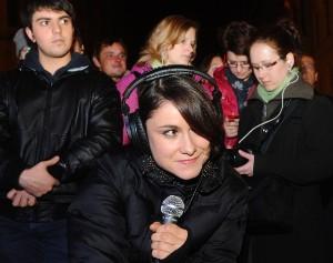 Lenka Dusilová v rámci projektu Acuo