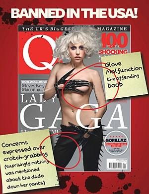 Inkriminovaná fotka na obálce magazínu Q