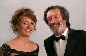 Moderátoři večera Bolek Polívka a jeho dcera Anna