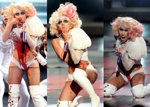 Krvácející Lady Gaga